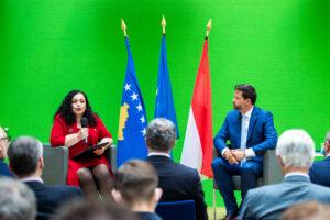 Lukas Mandl empfing Vjosa Osmani im Wiener Haus der EU
