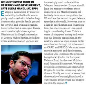 Strengthening Europe's security