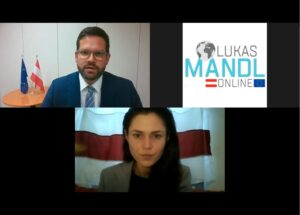 Mandl im Gespräch: Belarussischen Bürgerinnen und Bürgern beistehen
